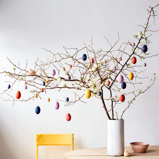 painted egg tree decoration