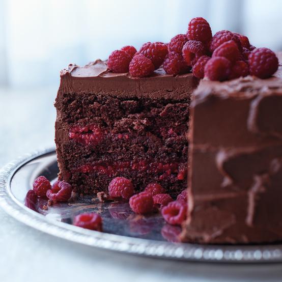 Chocolate-Raspberry Cake