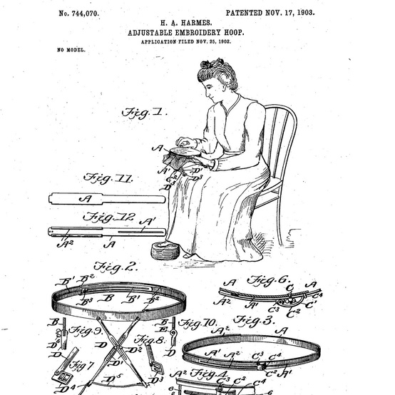 helen harmes embroidery patent