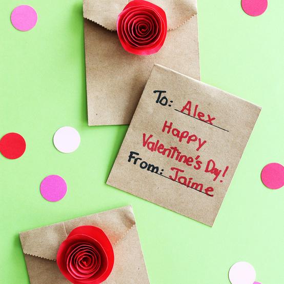 paper rose valentines