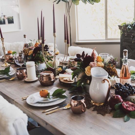 感恩节tablescape