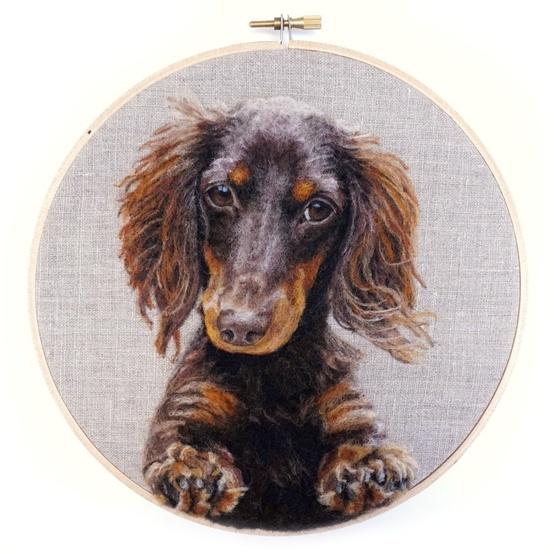 felt-art-brown-dog