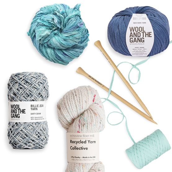 assorted eco-friendly yarns