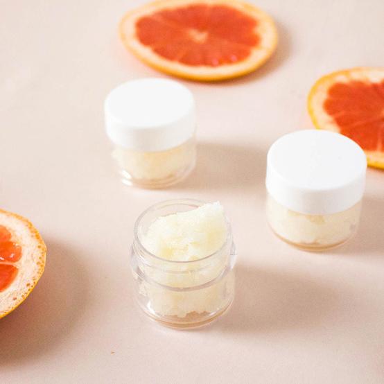 grapefruit lip sugar scrub