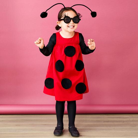 girl in ladybug costume