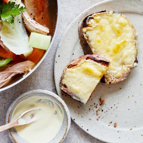 Alpine Cheese Toasts