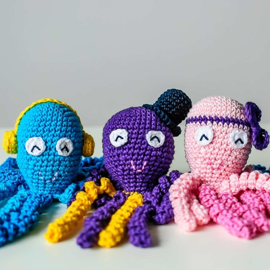 钩针章鱼玩具早产儿