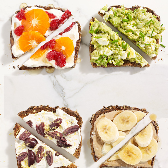assorted toasts