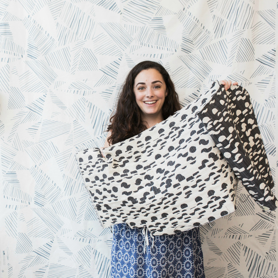 Rebecca Atwood's woven textiles collection