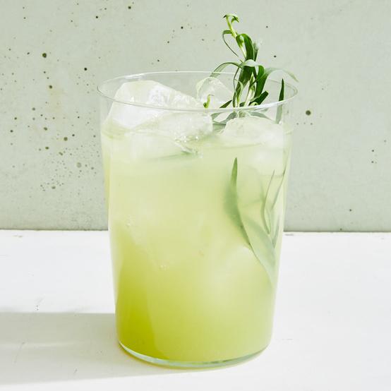 honeydew-lemon-tarragon cooler cocktail