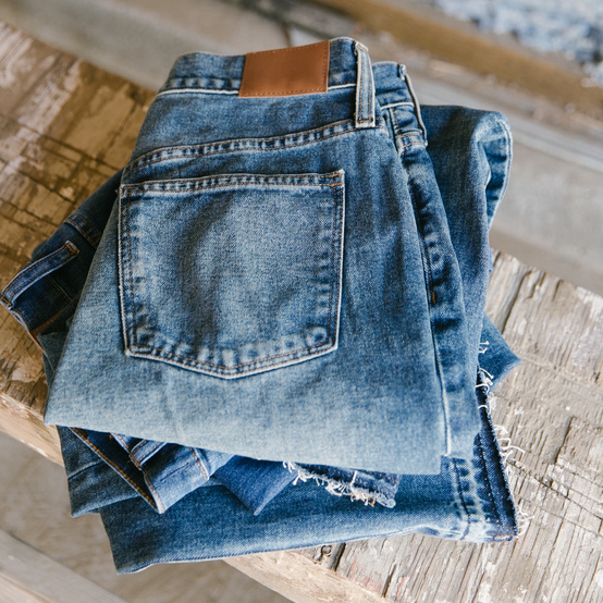 recycled clothes madewell denim