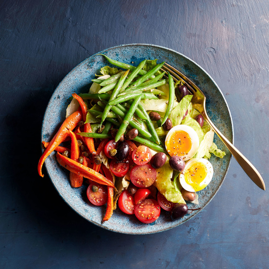 Roasted Carrot Nicoise