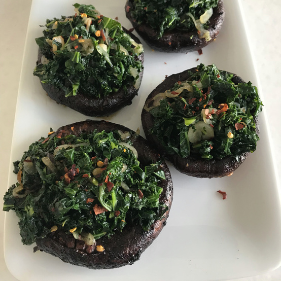 roasted portobello kale healthy