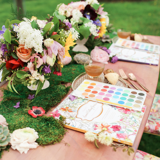 Watercolor paint garden party