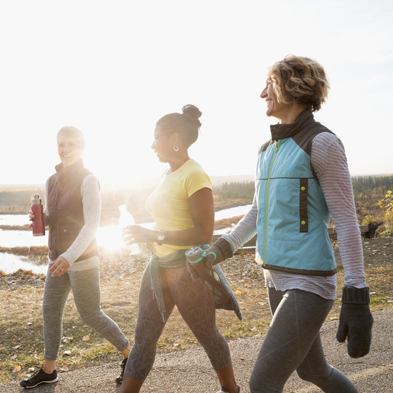 women walking healthy
