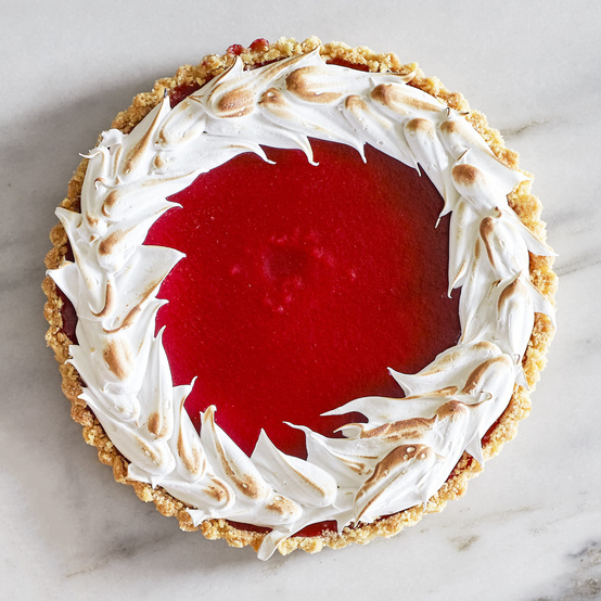 Cranberry-Meringue Tart