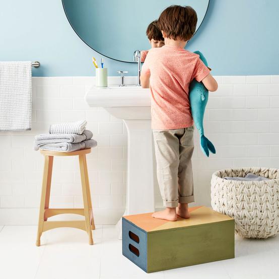 kids painted step stool