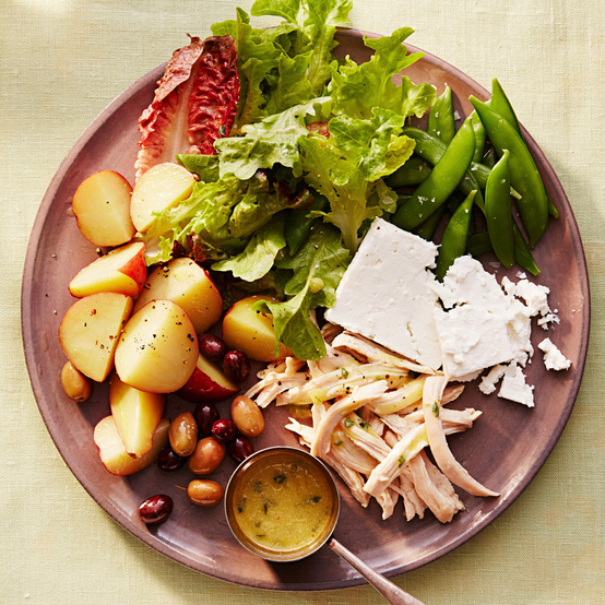 spring chicken nicoise recipe plate