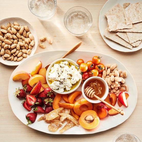 summer fruit nut platter