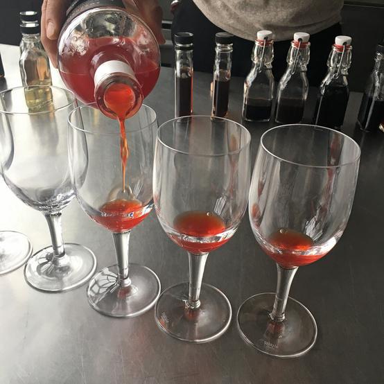 42 burners italian liqueur tasting wine glasses
