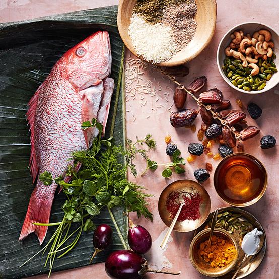 arabian gulf spices fish nuts eggplant