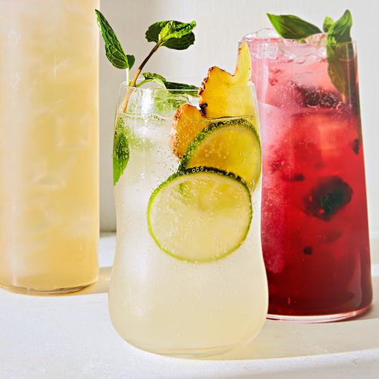 Mint, Lime, and Ginger Sparkler