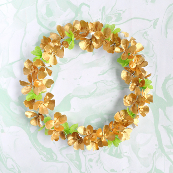 St. Patrick's Day clover wreath