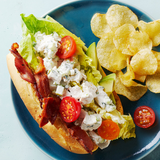 Chicken-Salad Club Roll