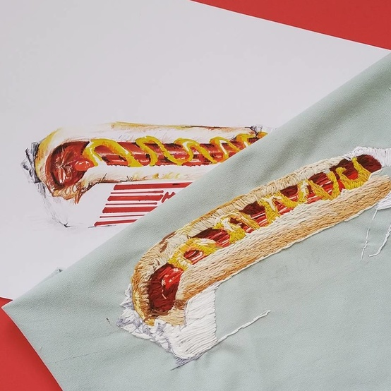 embroidery-food-hot-dog