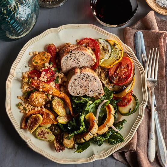 fall potluck plated food