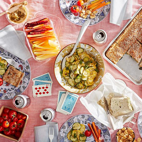mediterranean mixer picnic spread