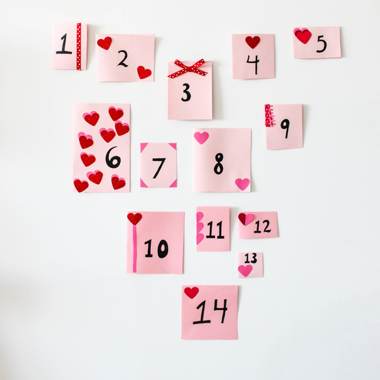 "Valentine's Day ""14 Days"" Countdown Calendar"
