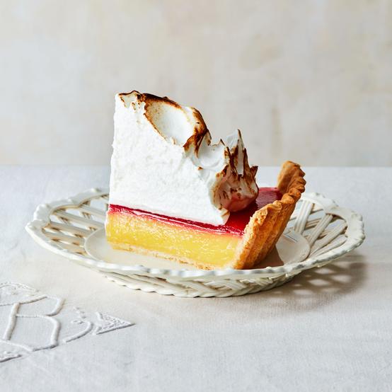 lemon cranberry meringue pie