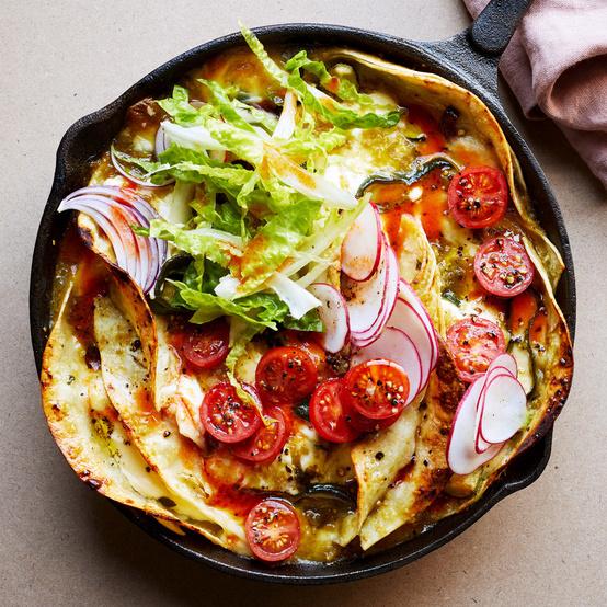 vegetarian enchiladas suizas
