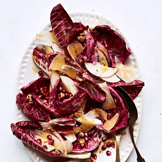 Dressed Chicories with Apple and Gouda recipe