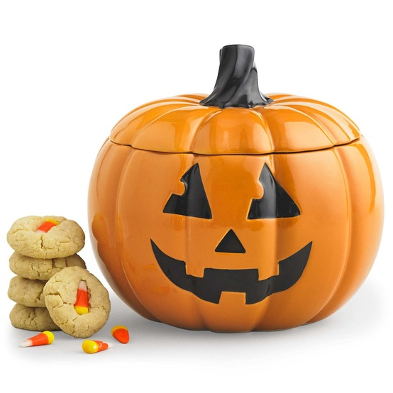 jack-o-lantern cookie jar