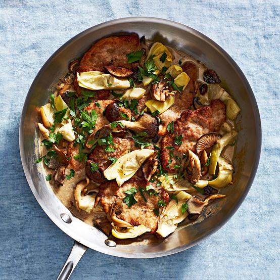 pork mushroom artichoke fricassee