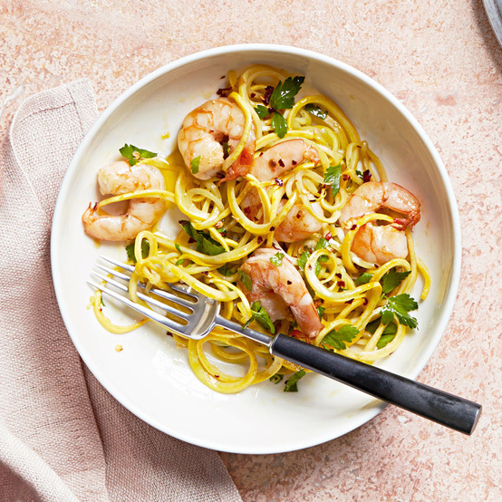 yellow squash shrimp scampi