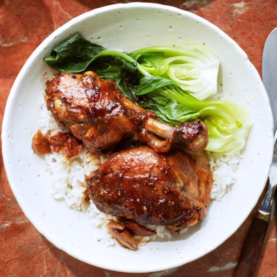Vinegar-and-Garlic-Braised Chicken