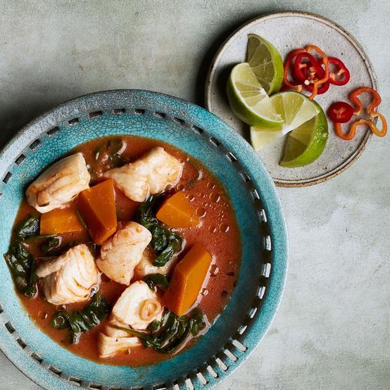Caribbean Fish-and-Pumpkin Stew recipe