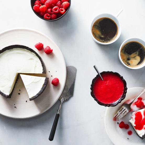 no bake chocolate crust cheesecake