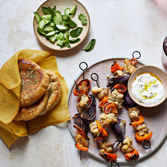 Spiced Chicken Kebabs with Pita