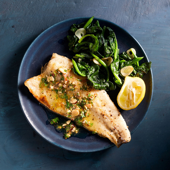 Trout with Almond-Parsley Butter