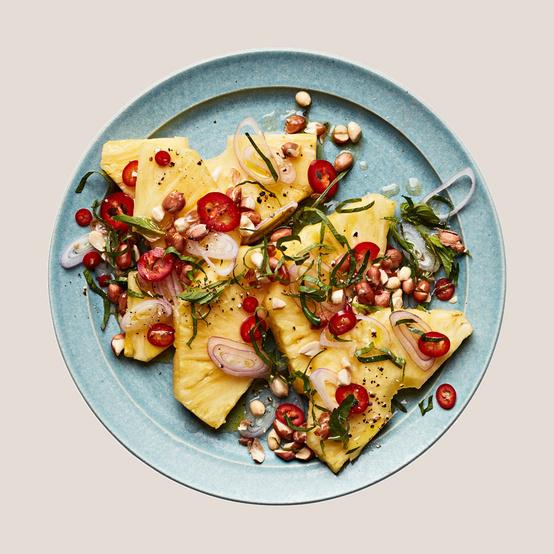 Spicy Pineapple & Peanut Salad recipe