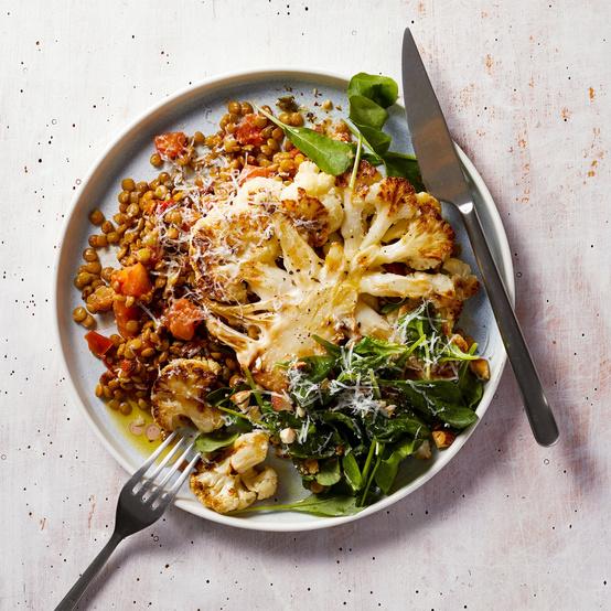 Warm Lentil-and-Cauliflower Salad recipe