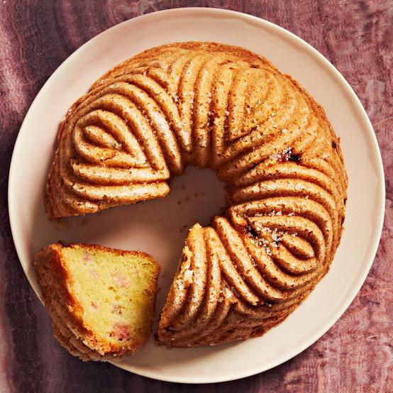 lemon-rhubarb olive-oil bundt cake recipe