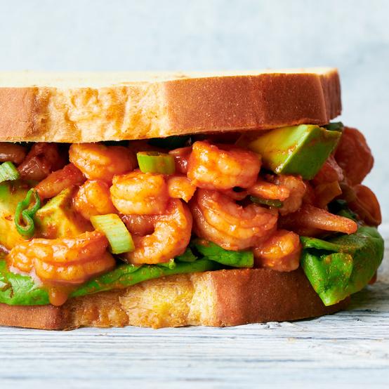 Shrimp-Louie Sandwich