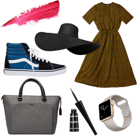 dress sunhat shoes apple watch eyeliner