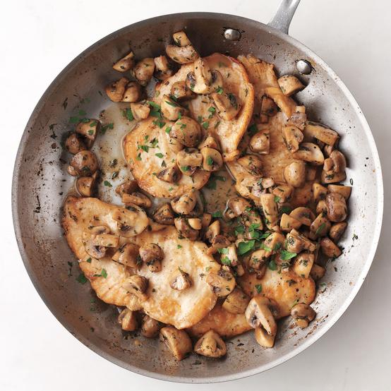 chicken mushrooms pan