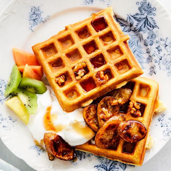 One-Bowl Buttermilk Waffles